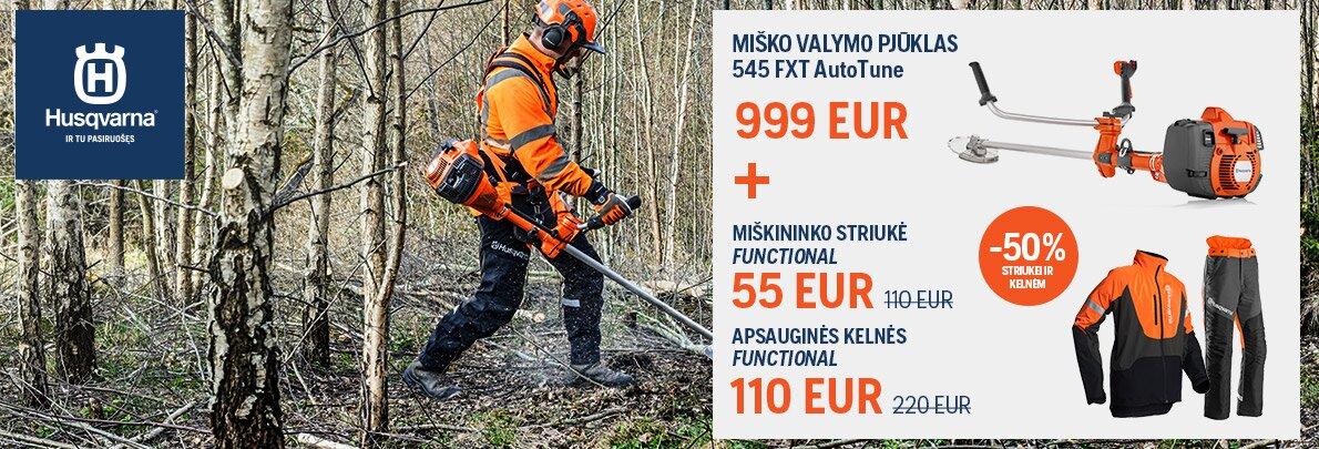 Miško valymo pjūklas